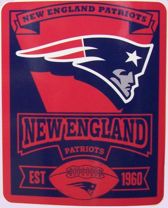 New England Patriots NFL blanket National Football League 50 by 60 inches 100 percent fleece polyester