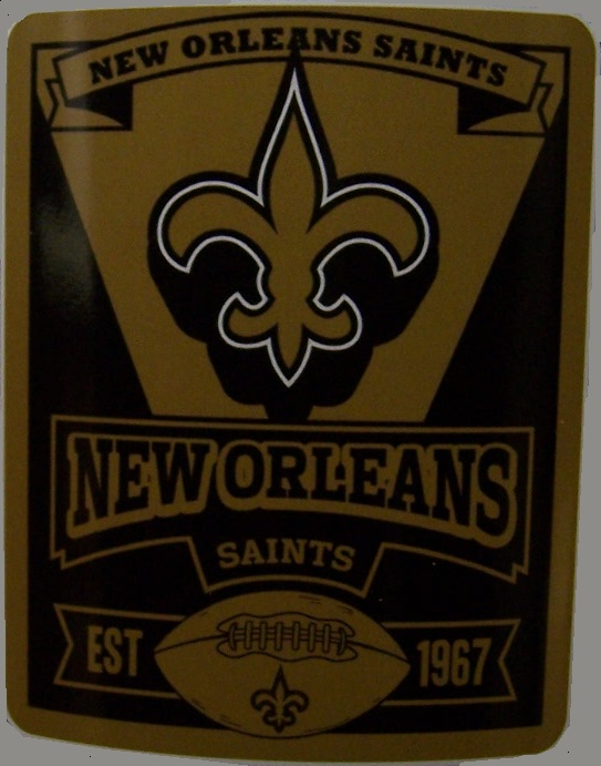 New Orleans Saints NFL blanket National Football League 50 by 60 inches 100 percent fleece polyester