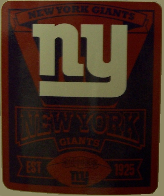 New York Giants NFL blanket National Football League 50 by 60 inches 100 percent fleece polyester