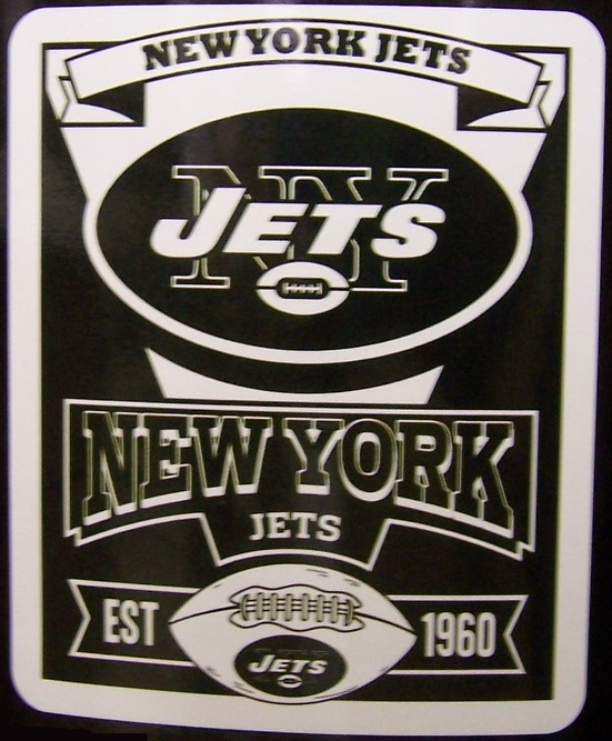 New York Jets NFL blanket National Football League 50 by 60 inches 100 percent fleece polyester