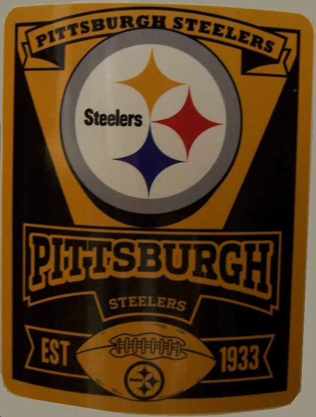 Pittsburgh Steelers NFL blanket National Football League 50 by 60 inches 100 percent fleece polyester