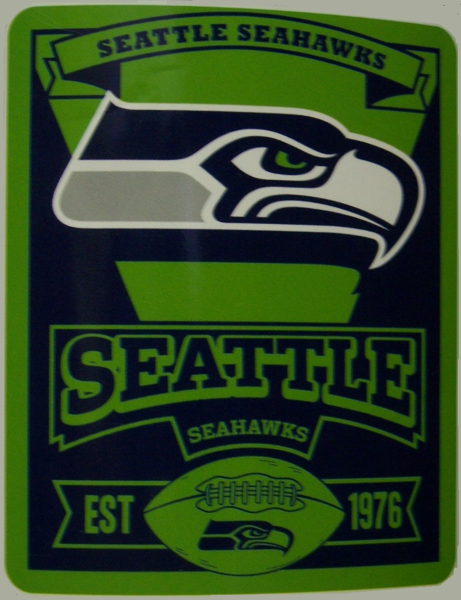 Seattle Seahawks NFL blanket National Football League 50 by 60 inches 100 percent fleece polyester