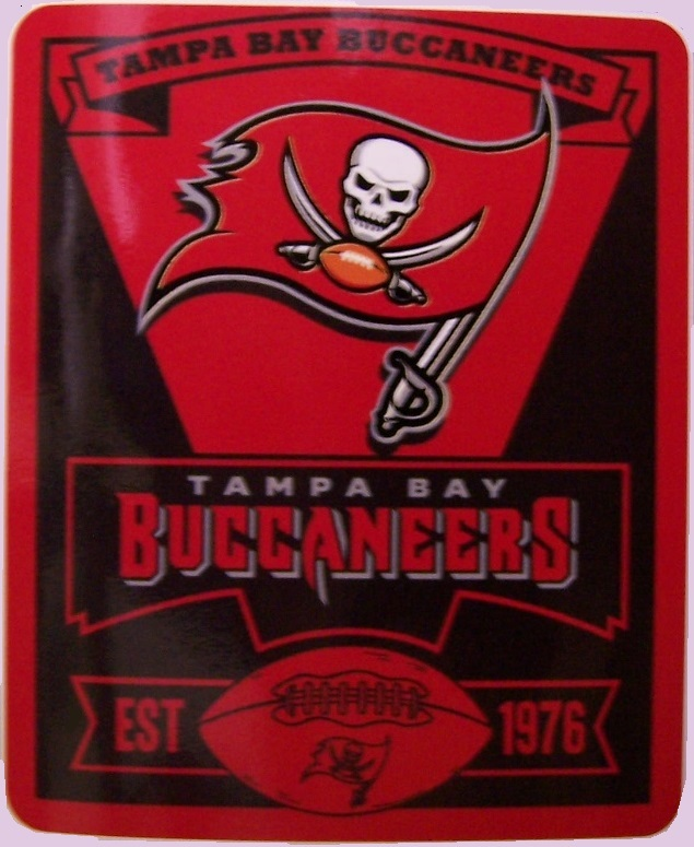 Tampa Bay Buccaneers NFL blanket National Football League 50 by 60 inches 100 percent fleece polyester