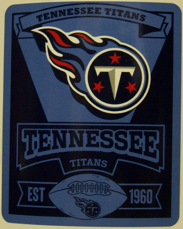 Tennessee Titans NFL blanket National Football League 50 by 60 inches 100 percent fleece polyester