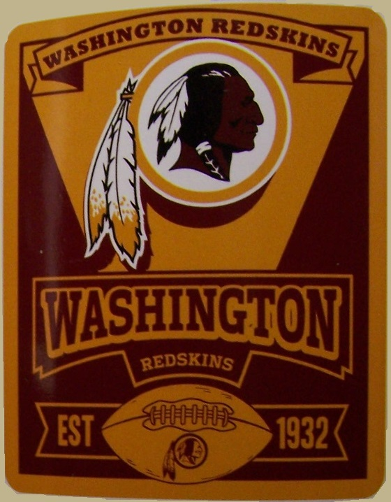 Washington Redskins NFL blanket National Football League 50 by 60 inches 100 percent fleece polyester