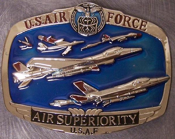 Military Belt Buckle pewter U S Air Force Superiority N | eBay