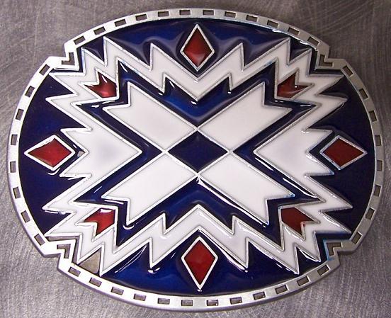 Pewter Belt Buckle Novelty Southwest Indian Art New Ebay