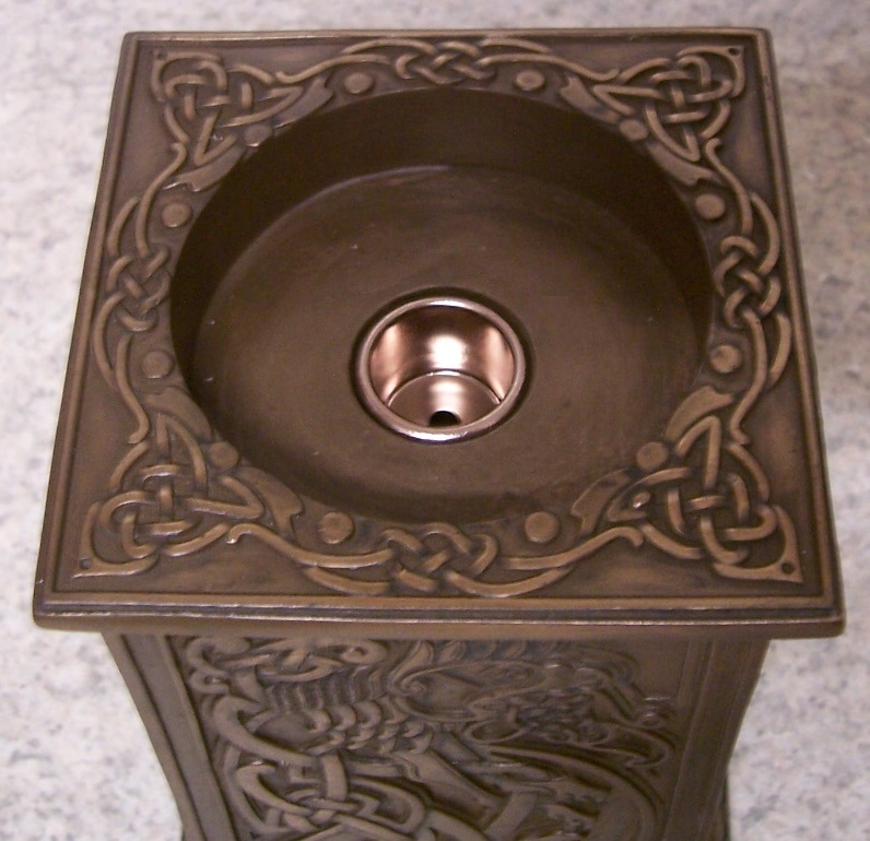Celtic Lion Candle Votive Holder top
