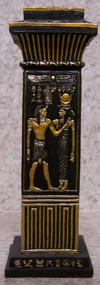 Egyptian Column Candle Votive Holder side 1