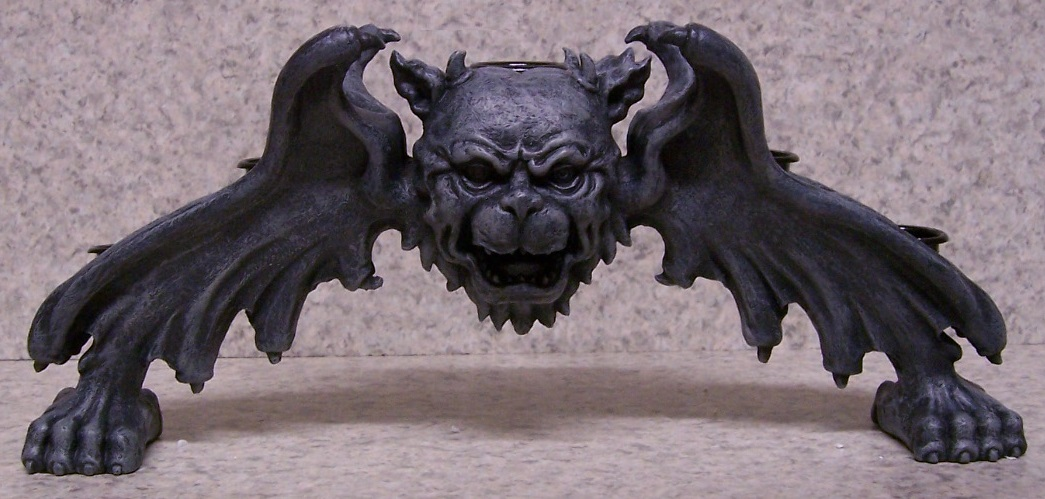 Gargoyle Arch Candle Votive Holder thumbnail