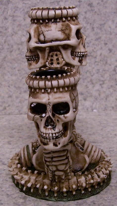 Ossuary Skelton Candle Votive Holder side