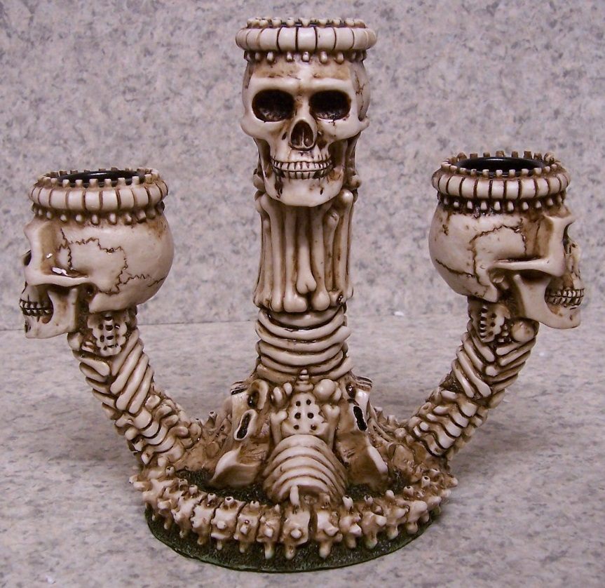 Ossuary Skelton Candle Votive Holder