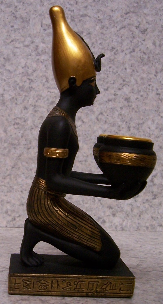 Egyptian Pharaoh Candle Votive Holder side