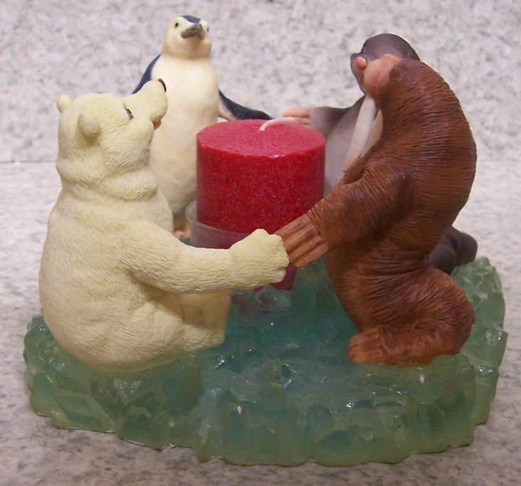 Polar Unity Candle Votive Holder with post candle