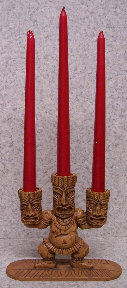 Tiki Surfer Candle Votive Holder with candle
