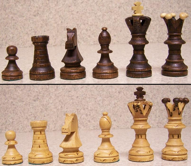 Chess Set With Wood Board Storage Box Solid Pieces Wooden