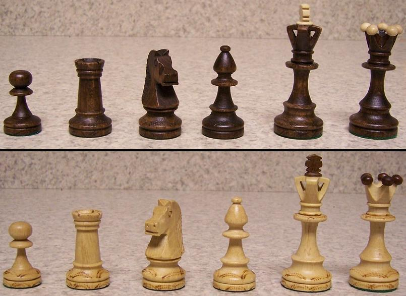 Detailed Chess Set Part - 41: With Felt Discs On The Bottom To Protect The Finish Of The Board. Notice  The Intricate And Decorative Detail Carving On The Pieces