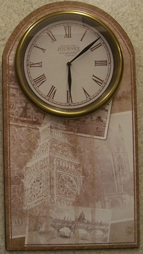 Postcards from London wall clock thumbnail
