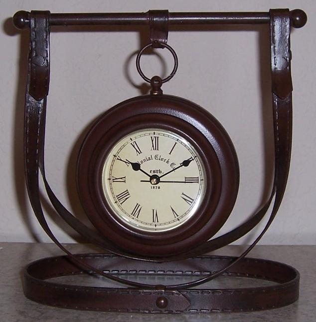 Hanging Pocket Watch Harness shelf or mantle clock thumbnail