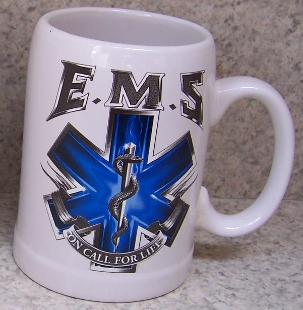 Emergency Medical Services Fire, Police and Rescue coffee mug thumbnail