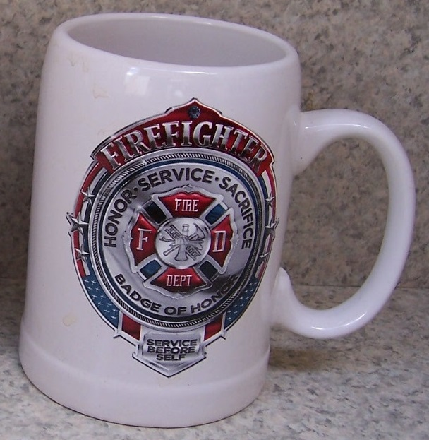 Firefighter Fire, Police and Rescue coffee mug thumbnail