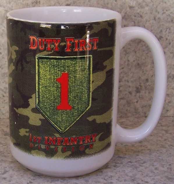1st Infantry Fivision Military coffee mug thumbnail