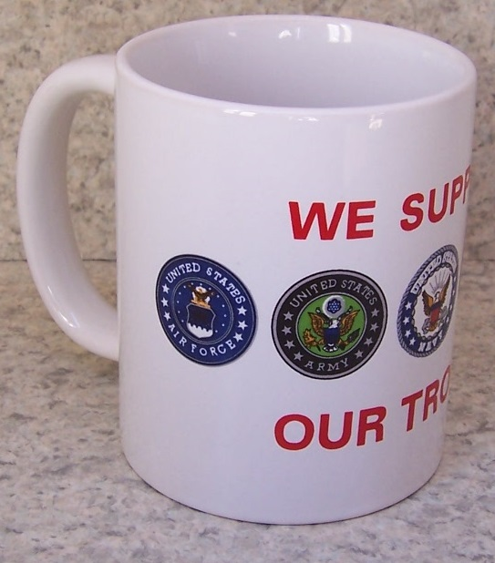 We Support our Troops Military coffee mug thumbnail