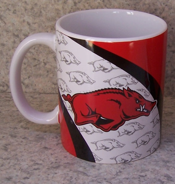 Arkansas Razorbacks NCAA National Collegiate Athletic Association coffee mug thumbnail