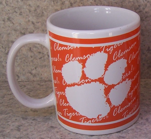 Clemson Tigers NCAA National Collegiate Athletic Association coffee mug thumbnail