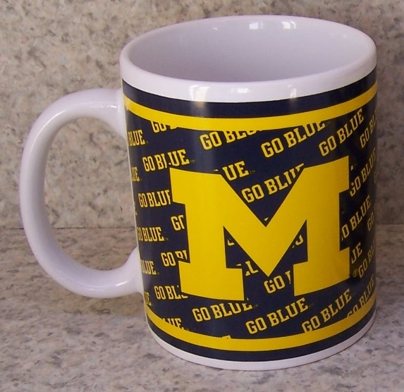 Michigan Wolverines NCAA National Collegiate Athletic Association coffee mug thumbnail