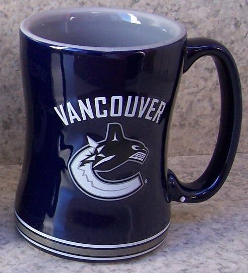 Vancouver Canucks NHL National Hockey League coffee mug thumbnail