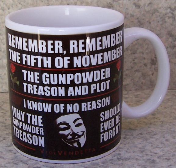Guy Fawkes coffee mug thumbnail