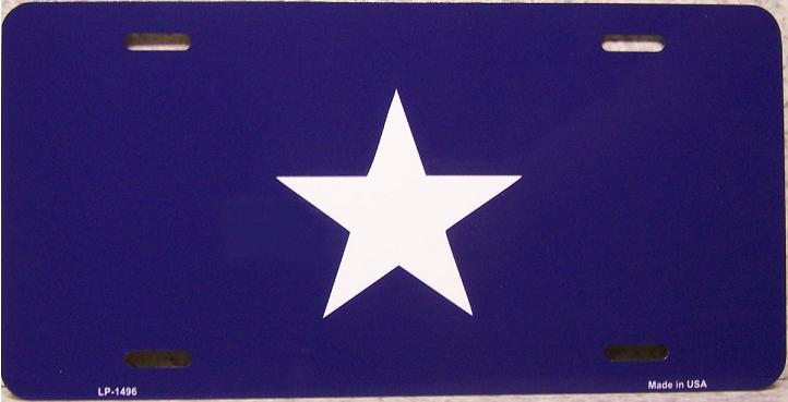 Bonnie Blue Flag Aluminum License Plate Confederate States of America thumbnail