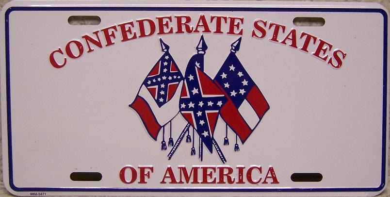 Confederate States Historic Flags Aluminum License Plate Confederate States of America thumbnail