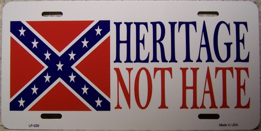 Heritage not Hate Aluminum License Plate Confederate States of America thumbnail