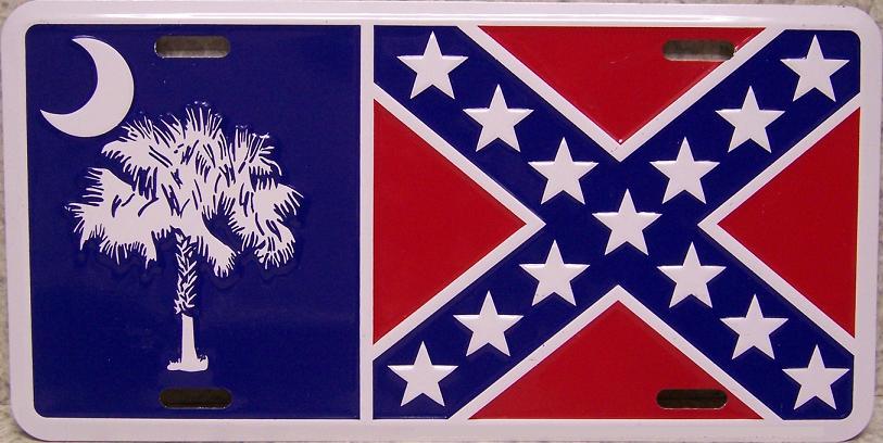 South Carolina Confederate Flag License Plate