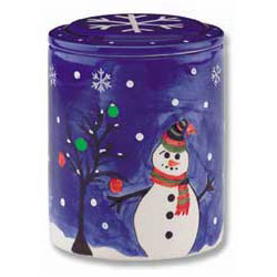 Snowman and Tree Ceramic Cookie Jar thumbnail