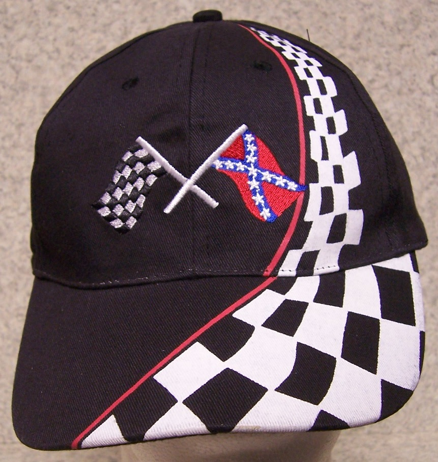 Racing Flags Confederate States Adjustable Size Baseball Cap thumbnail