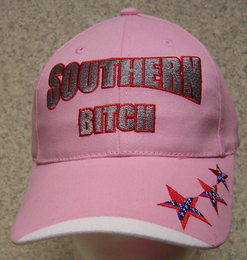 Southern Bitch Confederate States Adjustable Size Baseball Cap thumbnail