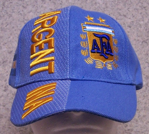 Argentina Adjustable Size International Flag Soccer Football Baseball Cap thumbnail