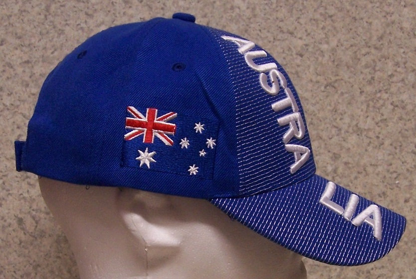 australia international flag embroidered baseball cap from
