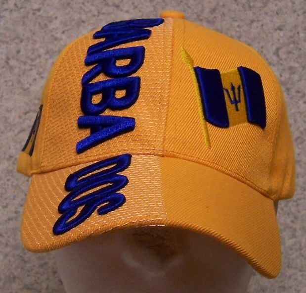 Barbados Adjustable Size International Flag Baseball Cap thumbnail