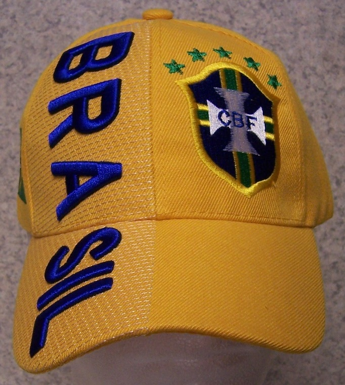 Brasil Adjustable Size International European Football Baseball Cap thumbnail