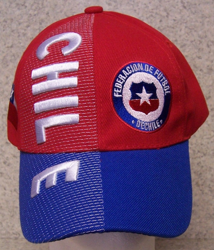 Chile Adjustable Size International Flag Soccer Football Baseball Cap thumbnail