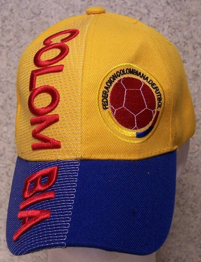 Colombia International Football Soccer Embroidered Baseball Cap from ... f0d51ab0105