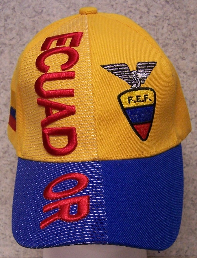 Ecuador Adjustable Size International Flag Soccer Football Baseball Cap thumbnail