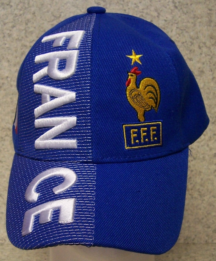 France Adjustable Size International Flag Soccer Football Baseball Cap thumbnail