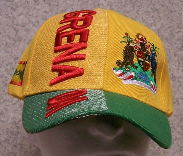 Grenada Adjustable Size International Flag Baseball Cap thumbnail
