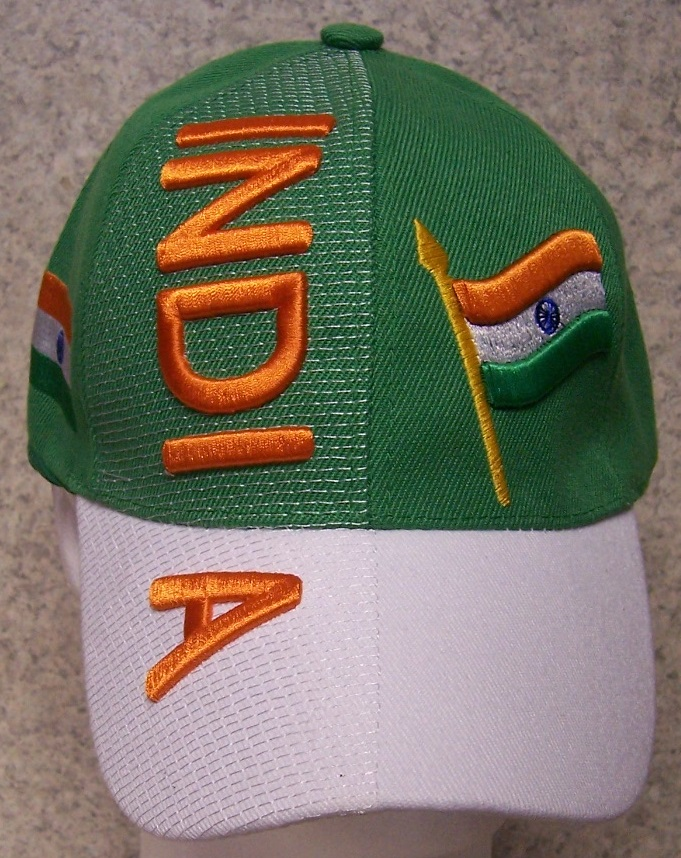 India Adjustable Size International Flag Baseball Cap thumbnail