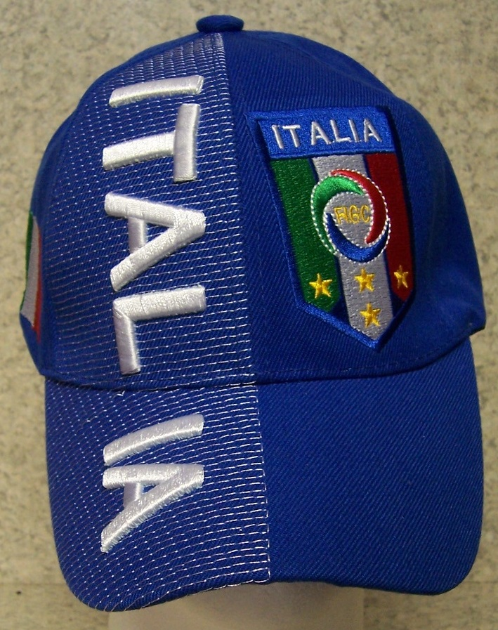 Italy Adjustable Size International European Football Baseball Cap thumbnail